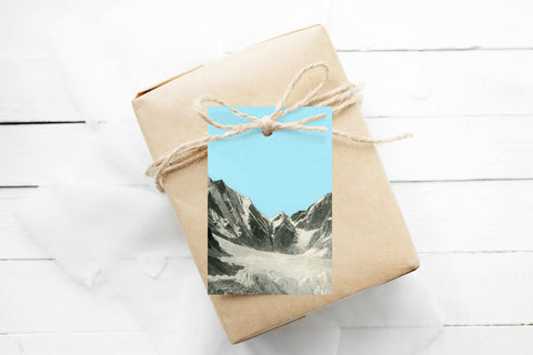Gift Tags Pack of 12 With String - Blue Skies