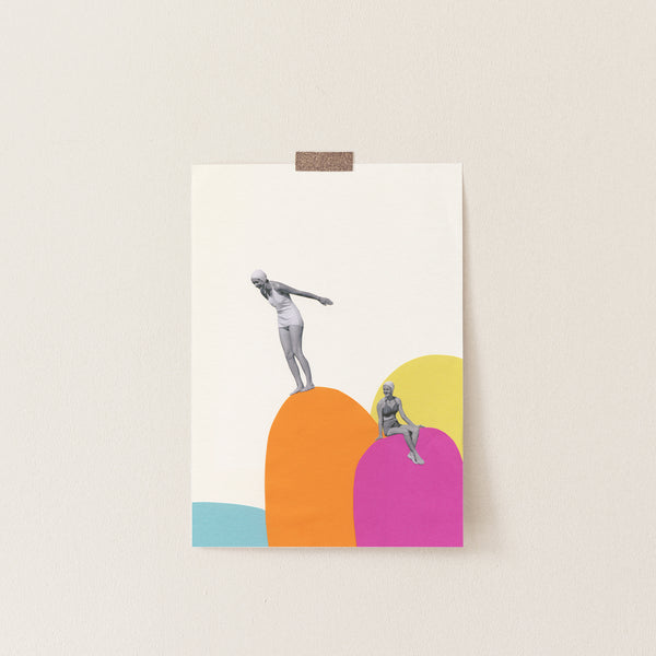 Cliff Diving - Art Print