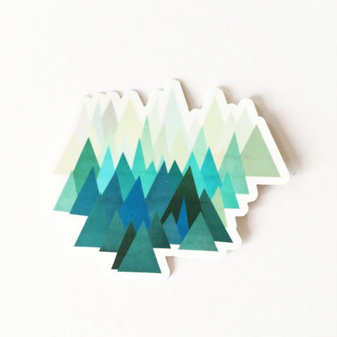 Mountain Vinyl Sticker - Cold Mountain