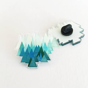 Acrylic Pin Badge - Cold Mountain
