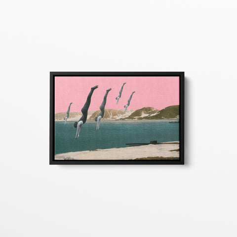 Float Framed Cotton Canvas - Dive
