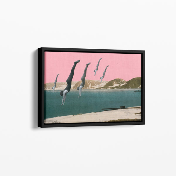 Dive Float Framed Cotton Canvas
