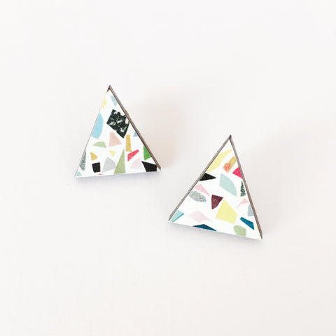 Terrazzo Wood Earrings