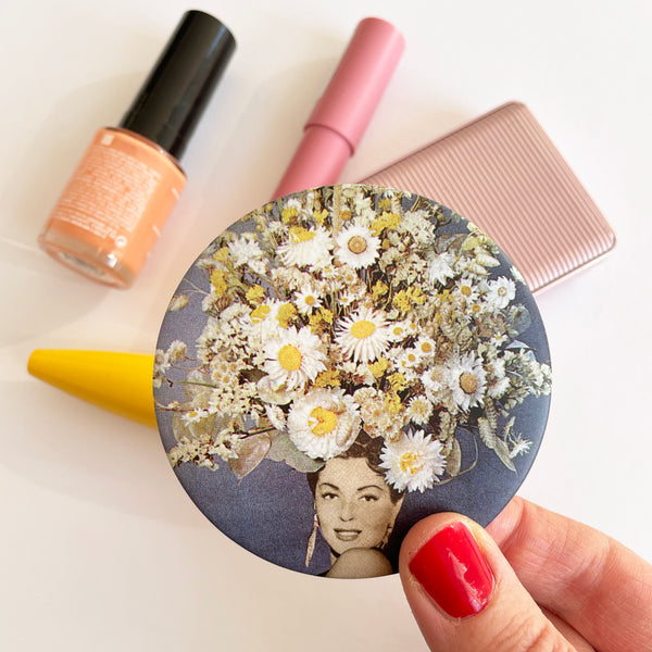 Flower Pocket Mirror - Floral Fashions