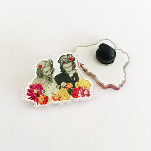 Acrylic Pin Badge - Flower Collectors