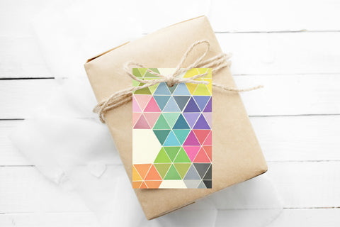 Gift Tags Pack of 12 With String - Fragmented