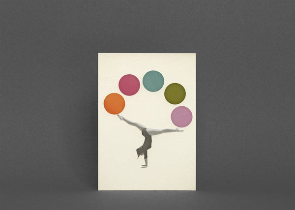 Blank Greetings Card With Envelope - Gymnastics