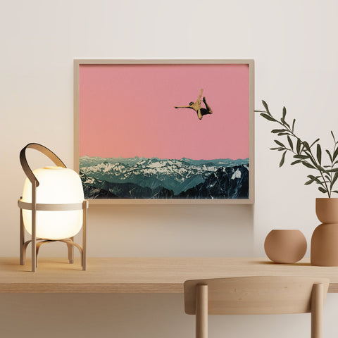 Framed Giclée Print - Higher Than Mountains