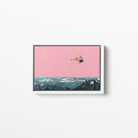 Float Framed Cotton Canvas - Higher Than Mountains