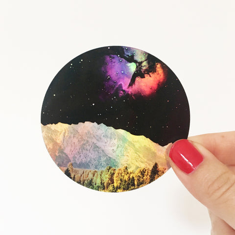 Holographic Space Sticker - Time and Space