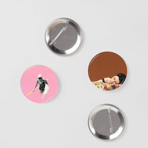 Retro Badge Set - Indian Summer