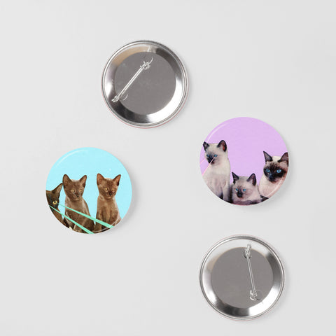 Cat Badge Set - Kitsch Kittens