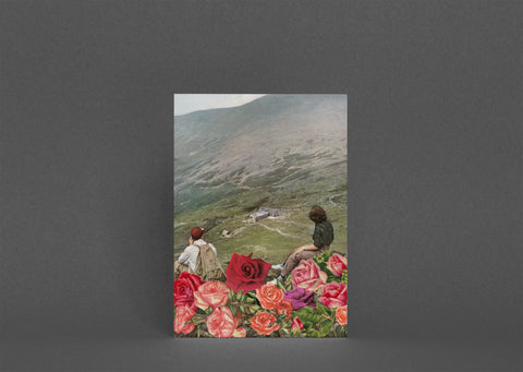 Blank Greetings Card - Life is a Bed of Roses