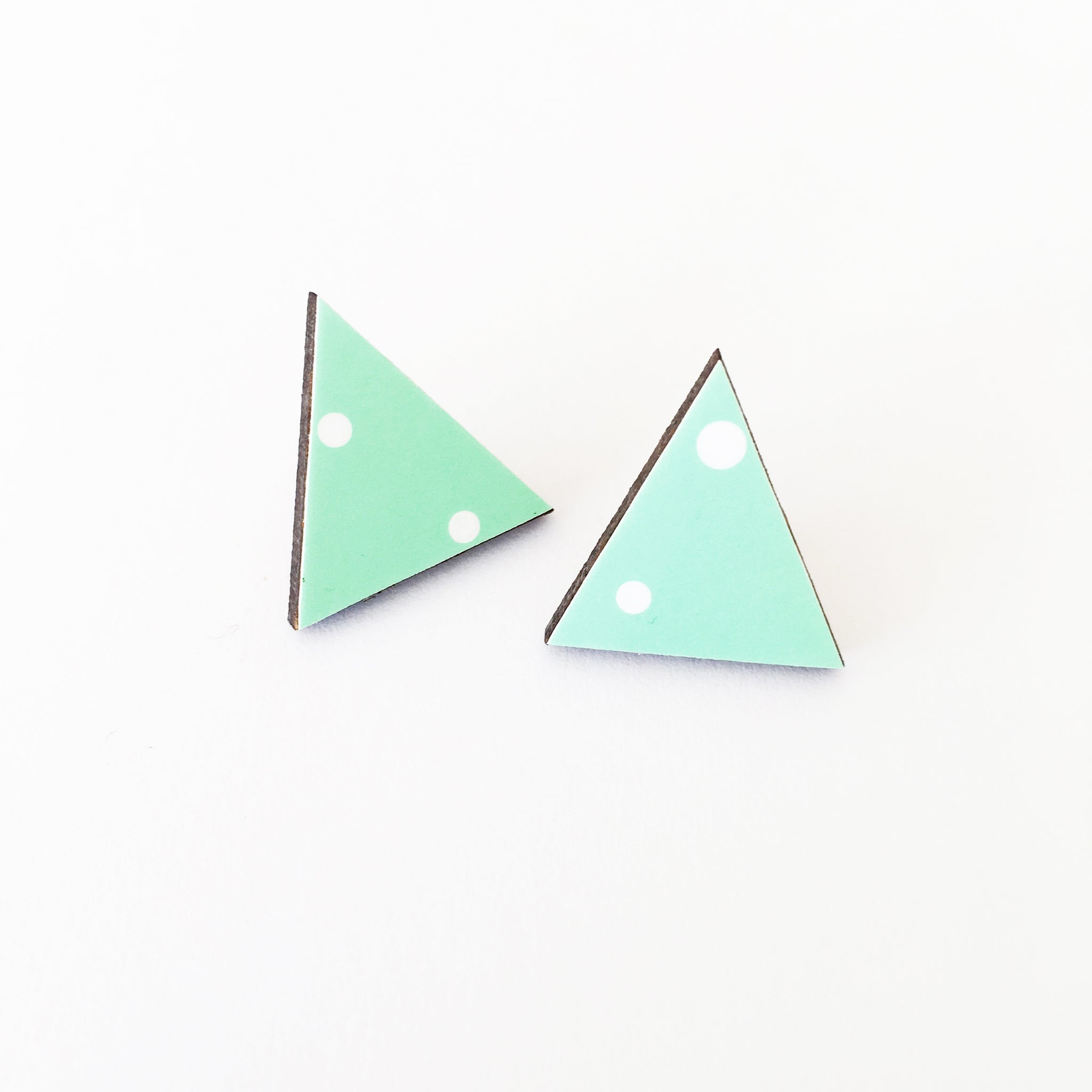 Mint and Spot Earrings
