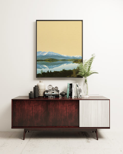 Mountain Lake - Art Print on Rag Paper