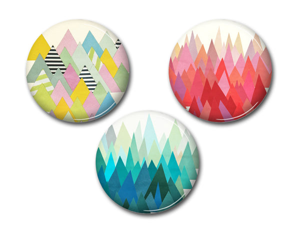 Badge Set - Mountainous Range