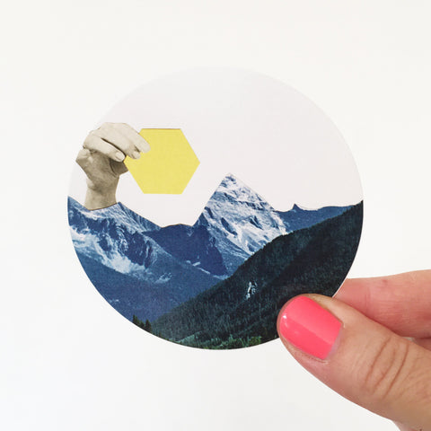 Mountain Vinyl Sticker - Moving Mountains