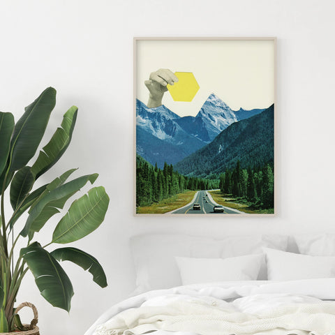 Moving Mountains - Art Print on Rag Paper