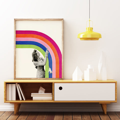 Paint a Rainbow - Art Print on Rag Paper