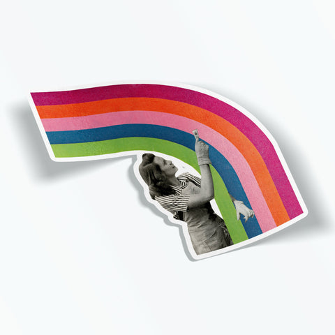 Rainbow Vinyl Sticker - Paint a Rainbow