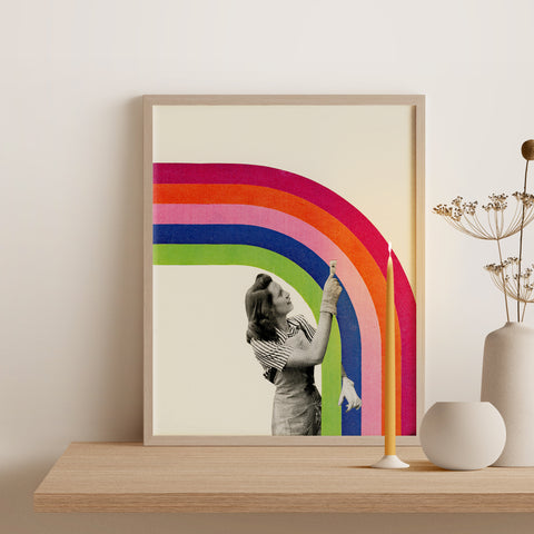 Framed Giclée Print - Paint a Rainbow