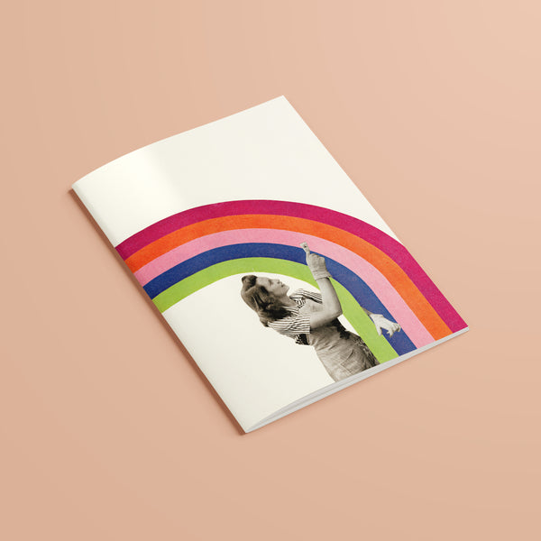 A5 Plain Recycled Notebook - Paint a Rainbow