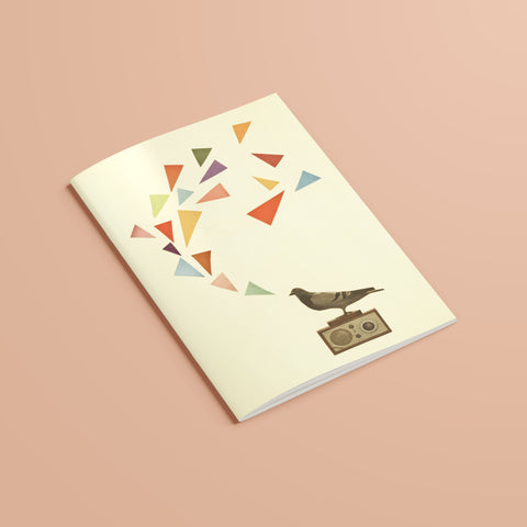 A5 Plain Recycled Notebook - Pigeon Radio