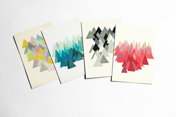 Abstract Postcard Set - Mountains