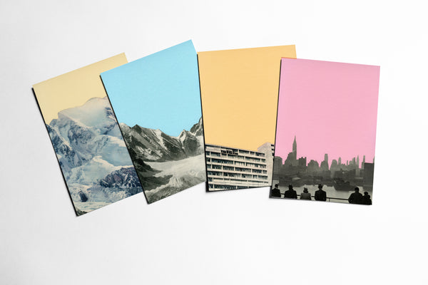 Postcard Set - Coloured Skies