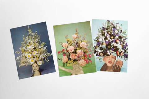 Postcard Set - Floral Fashions