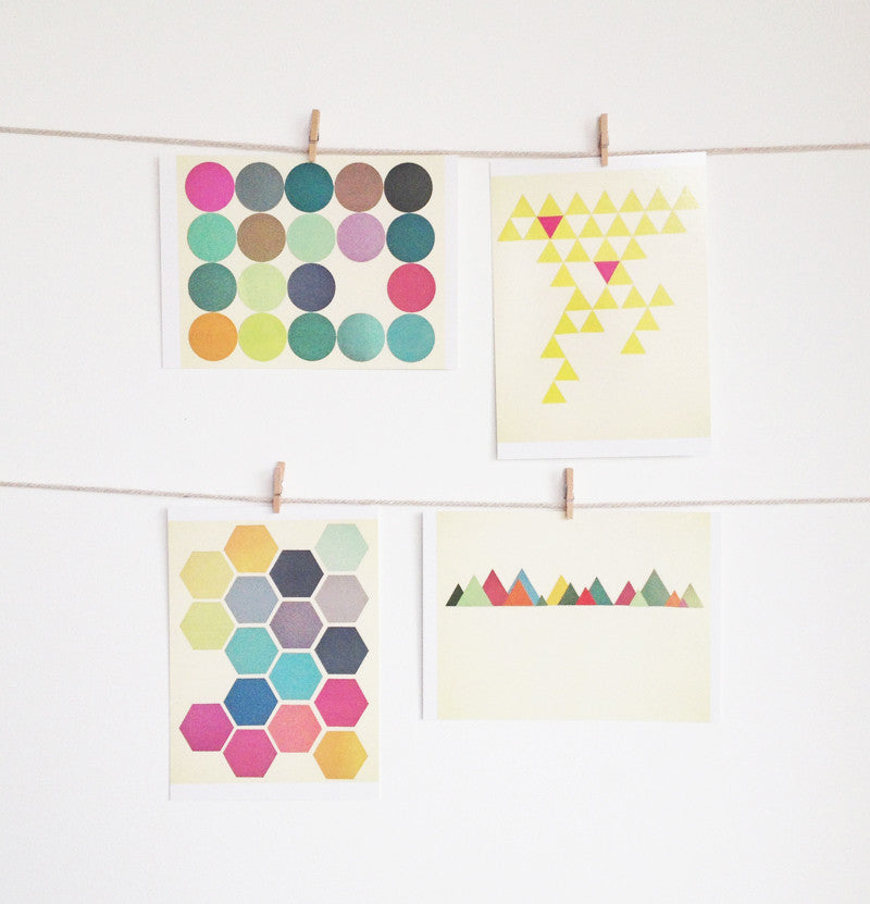 Modern Pattern Postcard Set - Geometric