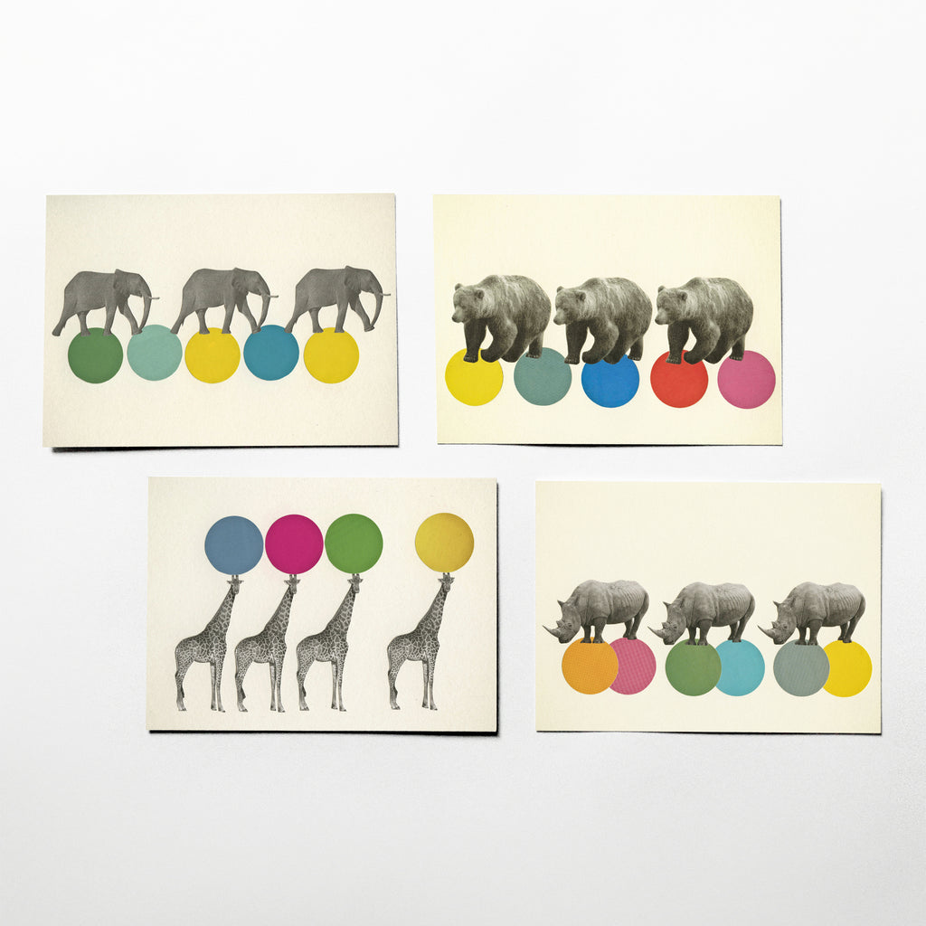 Postcard Set - Roaming Animals