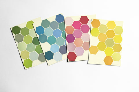 Geometric Postcard Set - The Honeycomb Set