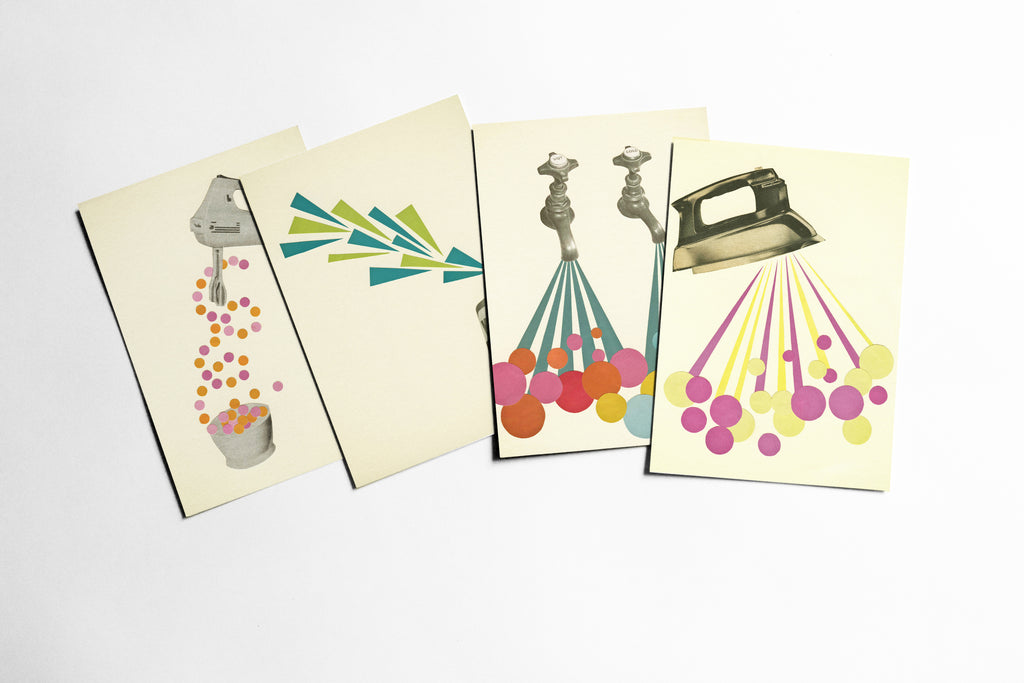 Retro Postcard Set - The Housework is Never Done