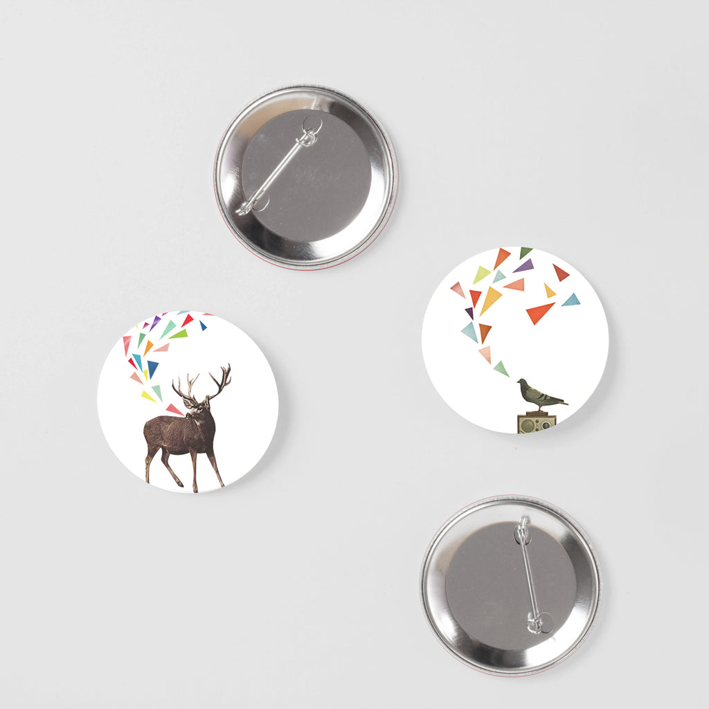 Animal Badge Set - Sing