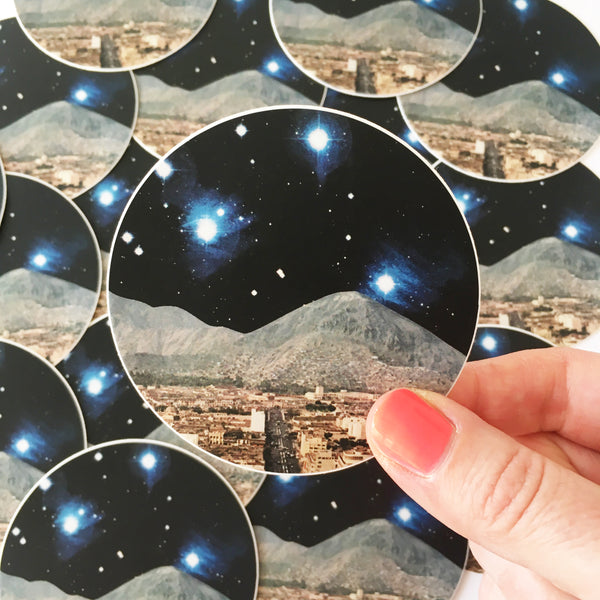 Space Vinyl Sticker - Space City