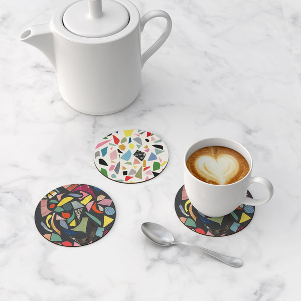 Abstract Round Coasters - Terrazzo Mix