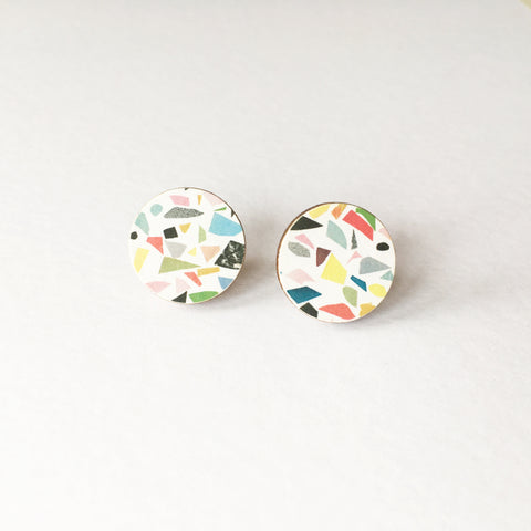 Terrazzo Round Earrings