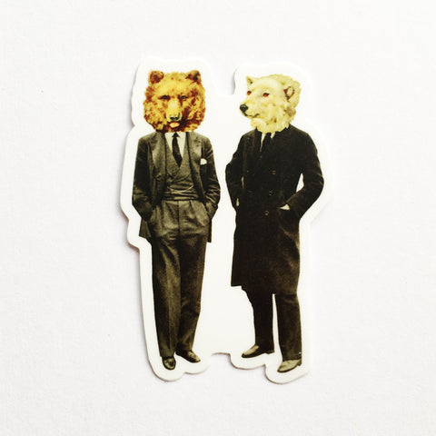 Bear Vinyl Sticker - The Likely Lads