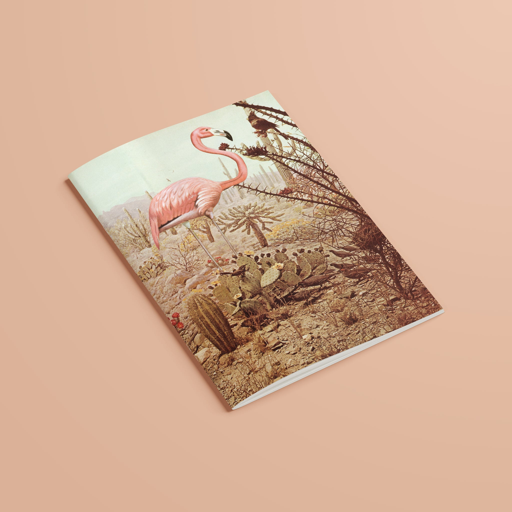 A5 Plain Recycled Notebook - Wild Flamingo