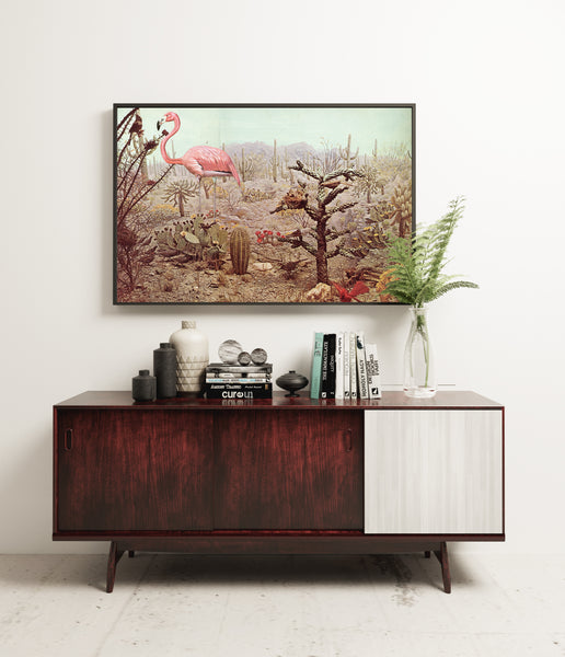 Wild Flamingo - Art Print