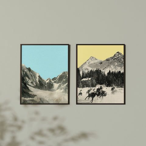 Winter Mountains - Art Print Set on Rag Paper
