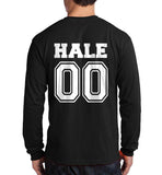 Hale 00 On BACK Beacon hills lacrosse On FRONT Long Sleeve T-shirt for Men - Meh. Geek - 2
