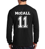 McCall 11 White Ink on Back Beacon hills lacrosse Long Sleeve T-shirt for Men