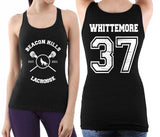 Whittemore 37 on BACK Beacon Hills Lacrosse Wolf on FRONT Women Tank Top