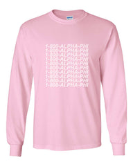 1800 Apha Phi Long Sleeve T-shirt for Men - Meh. Geek - 1
