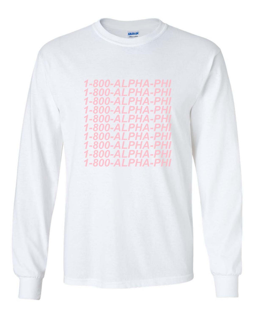 1800 Apha Phi Long Sleeve T-shirt for Men - Meh. Geek - 4