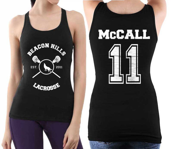 McCall 11 On BACK Beacon hills lacrosse On FRONT Women Tank top