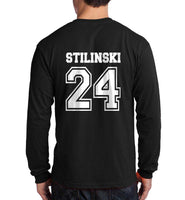 Stilinski 24 White Ink On BACK Beacon hills lacrosse On FRONT Long Sleeve T-shirt for Men