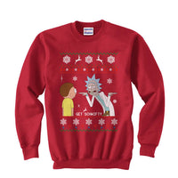 2# Get Schwifty Rick and Morty Ugly Sweater Unisex Crewneck Sweatshirt - Meh. Geek - 5